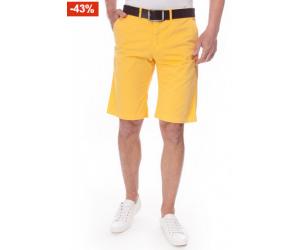 Seulement 40€ pour le bermuda de couleur jaune en coton