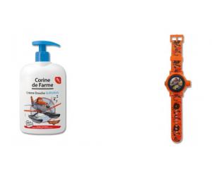 Bracelet Planes offert pour l'achat d'un gel douche surgras