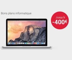 Jusqu'à 400€ de remise sur les ordinateurs portables