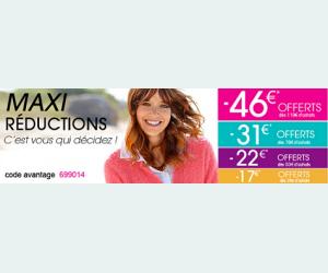 Maxi réduction jusqu'à -46€ offerts