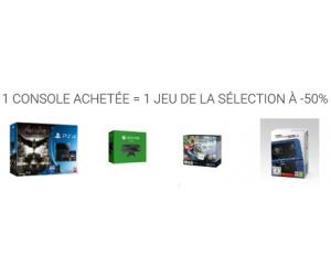 1 console achetée = 1 jeu à -50%