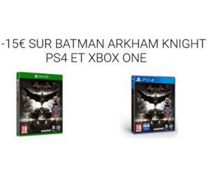 -15€ sur Batman Arkham Knight PS4 et Xbox One