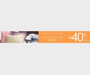 Jusqu'à 40% de remise sur la collection blanc
