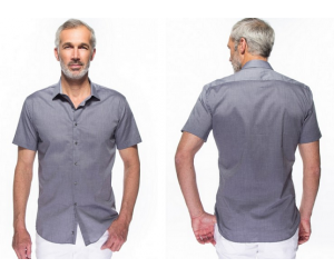 35,00 € seulement pour la chemise à manches courtes grise