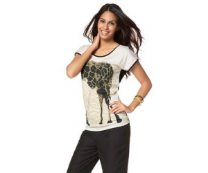 Tee-shirt imprimé girafe Chillytime à moins 60%