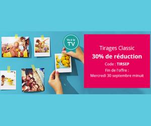 30% de réduction avec l'offre Tirages Classic