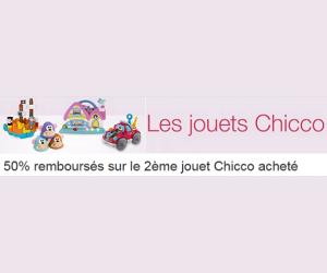 50% remboursés sur le 2ème jouet Chicco acheté