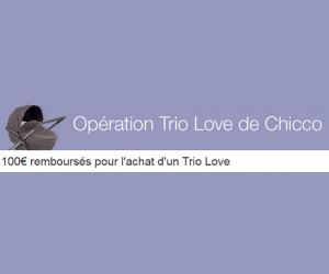 100€ remboursés pour l'achat d'un Trio Love