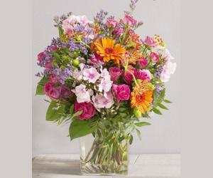 Bouquet bohème  avec son vase avec 17% de moins