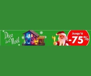 Jusqu'à moins 75% sur les décorations de Noël