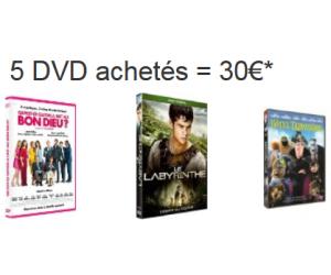 30€ seulement pour 5 DVD