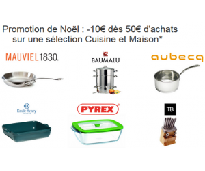 Moins 10€ sur une sélection Cuisine et Maison