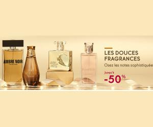 Jusqu'à -50% sur une sélection de parfums
