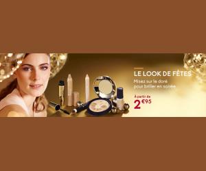 Dénichez des maquillages pour les fêtes dès 2€95