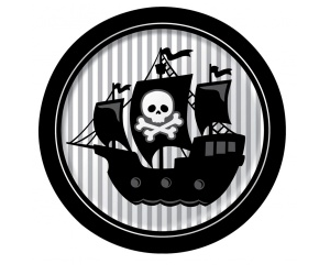 30 de r duction sur les 8 assiettes pirate - Code promo deco de fete ...