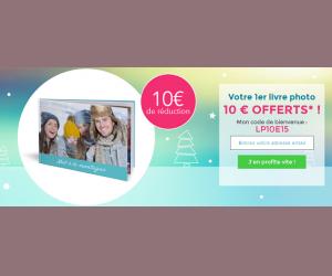 10€ offerts sur votre premier livre photo