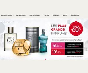 Jusqu'à -60% sur une sélection de parfums