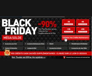 Jusqu'à 90% de réduction pour l'offre Black Friday