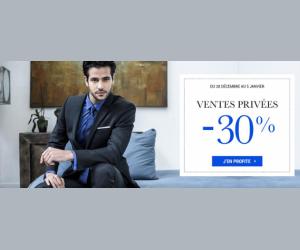 Les ventes privées avec 30% en moins