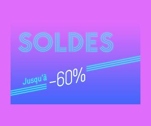 Jusqu'à 60% en moins pendant les soldes