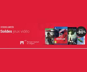 Soldes jusqu'à -80% sur les jeux vidéo