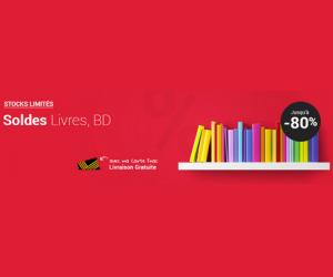 Jusqu'à -80% sur les livres et BD