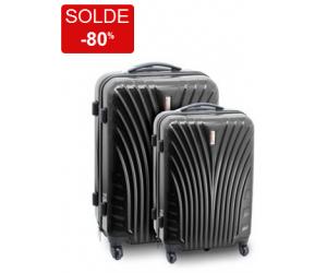 Ensemble de 2 valises Neo noir en solde à 59€90 contre 299€99