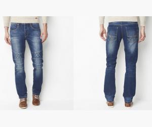 Jean coupe straight esprit motard R jeans à moins 60%