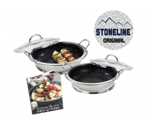 Sauteuses en pierre pro Stoneline + livre à moins 40%