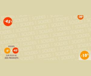 Jusqu'à moins 45% sur plus de 300 produits