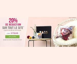 -20% sur tout le site à partir de 20€ de commande