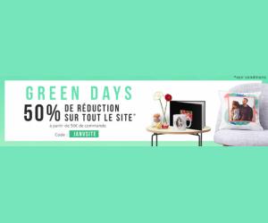 50% en moins dès 50€ d'achats avec l'offre Green days