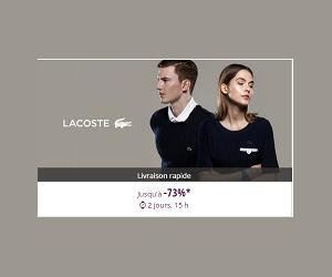 Jusqu'à 73% de remise sur la marque Lacoste