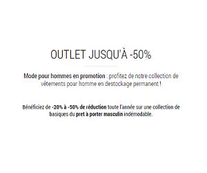 Outlet jusqu'à 50% de remise