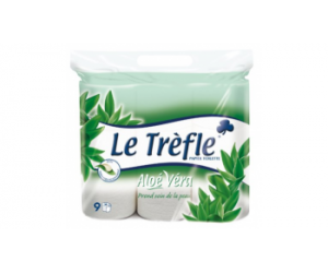 odr le trefle papier toilette 224 l alo 233 v 233 ra lot de 9 rouleaux offre de remboursement