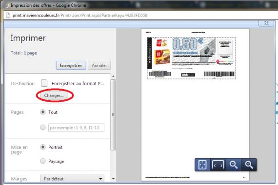 comment imprimer les bons reduction en format pdf