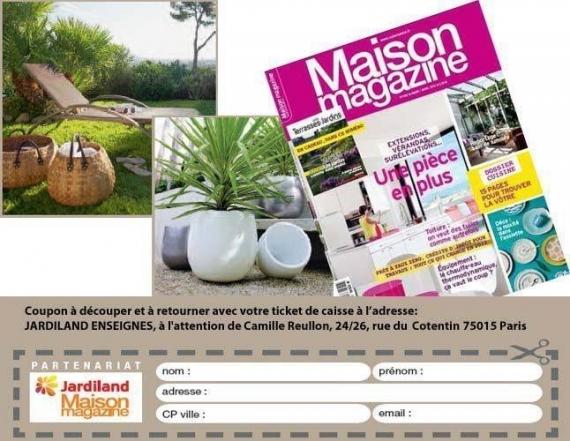 jardiland pour 20 d 39 achat abonnement maison magazine. Black Bedroom Furniture Sets. Home Design Ideas