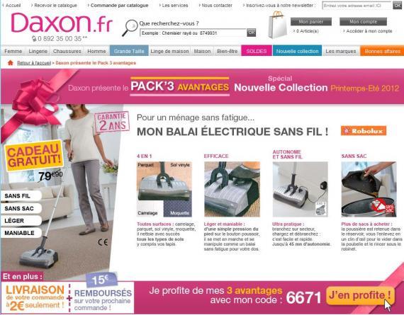 Daxon balai lectrique gratuit 15 euros frais de port 2 - Code promo daxon frais de port gratuit ...