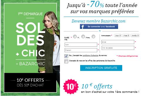 Code reduction bazarchic promo frais de port offert et - Code promo frais de port showroomprive ...