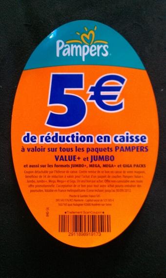 Pampers 5 de r duction offre de remboursement - Bon de reduction couches pampers ...