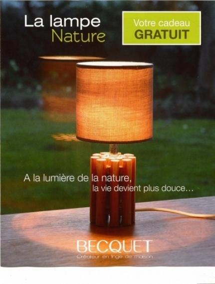 cadeau lampe nature chez becquet promotion. Black Bedroom Furniture Sets. Home Design Ideas