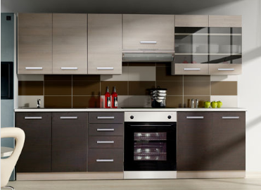 Bon plan auchan offre 495 00 la cuisine gen ve 260cm for Element de cuisine pour four encastrable