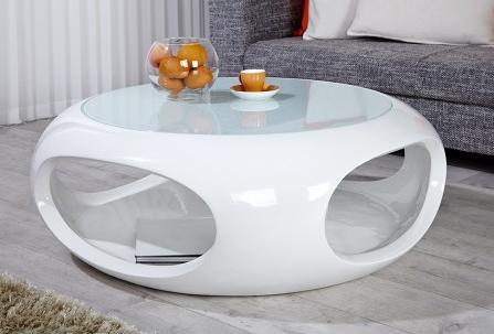 Bon Plan Sur La Boutique En Ligne Royale D Co La Table Basse Design Blanc Laqu Verseau Est