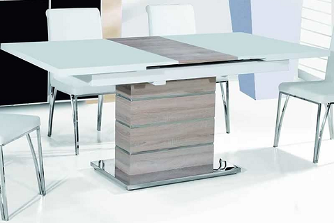 bon plan la table extensible en bois mdf snow. Black Bedroom Furniture Sets. Home Design Ideas