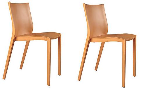 bon plan le lot de 2 chaises slick slick orange s affiche seulement 115 00 sur westwing. Black Bedroom Furniture Sets. Home Design Ideas