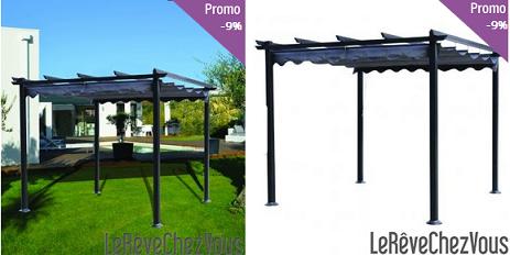 pergola aluminium 4x3 maison design. Black Bedroom Furniture Sets. Home Design Ideas