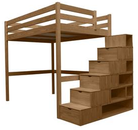bon plan le lit mezzanine pin maritime massif est disponible 1 846 80 sur abc meubles chez. Black Bedroom Furniture Sets. Home Design Ideas