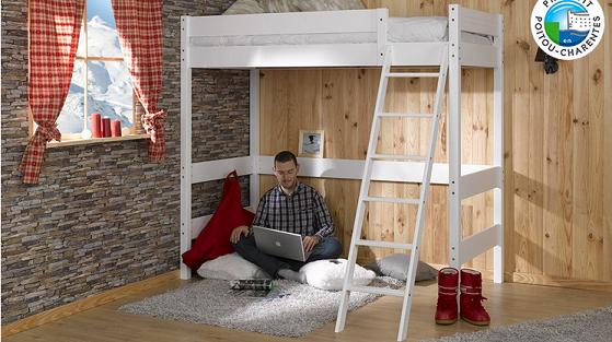 Bon plan chambre dressing literie vend le lit mezzanine adulte 90x190 parad - Mezzanine pour adulte ...