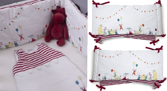 bon plan natalys expose seulement 45 le tour de lit blanc imprim jour de f te chez natalys. Black Bedroom Furniture Sets. Home Design Ideas