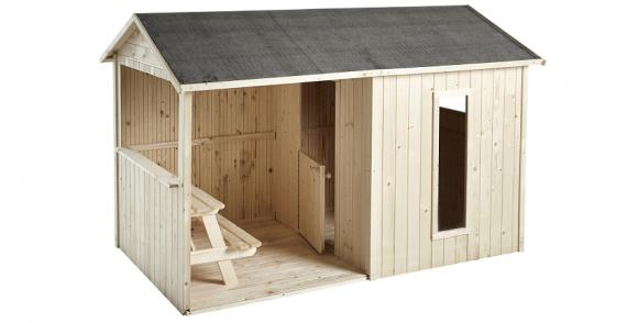bon plan 249 pour la maisonnette en bois cyrielle soulet chez leroy merlin. Black Bedroom Furniture Sets. Home Design Ideas